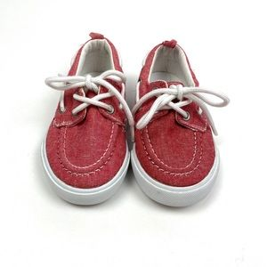 Gymboree Boys Red Canvas Boat Shoes Toddler 7